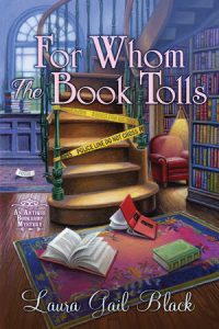 Book cover for cozy mystery For Whom the Book Tolls