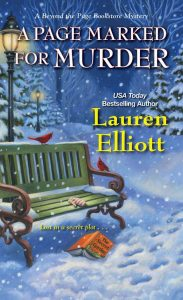 Book cover for A Page Marked for Murder by Lauren Elliott