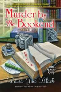 Book cover for cozy mystery Murder by the Bookend